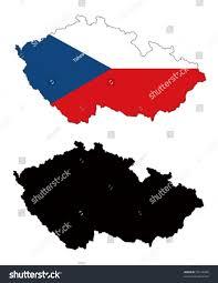 Map Of Czech Republic Vector Map Flag Czech Republic White Stock Vector 32144200