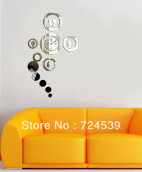 Mirror Wall Decals And Wall by Free Shipping Nf 051 Diy Home Decoration Fashion Mirror Clock 3d