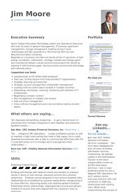Sample Resume Executive Summary by Cio Resume Haadyaooverbayresort Com