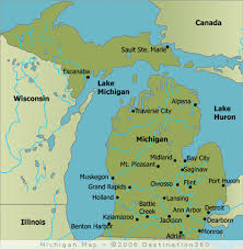 map of michigan lakes michigan state map the great lake state also as the