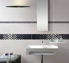 engaging bathroom tiles wall feat polka pattern print and