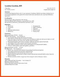 rn resume sample program format