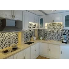 glass tiles for kitchen backsplash black u0026 white mix random