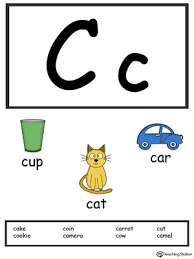 letter c alphabet flash cards for preschoolers myteachingstation