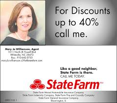 mary jo williamson state farm insurance agent