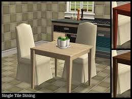 Make A Small End Table by Single Tile Dining Table Set Dining Room Sims 2 Downloads