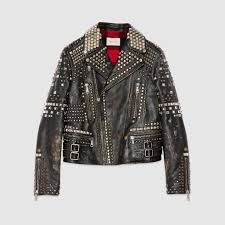 light bike jacket studded leather biker jacket gucci men u0027s bombers u0026 leather