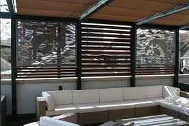 Metal Room Dividers by Custom Outdoor Metal Privacy Screens For Chicago Rooftop By