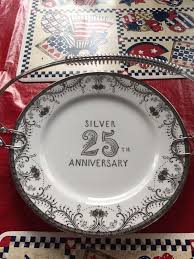 25th anniversary plate norcrest vintage china 25th anniversary plate collectibles