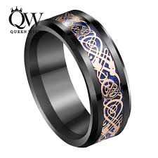 mens celtic wedding rings queenwish 8mm black tungsten ring gold celtic carbon