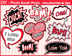 Photo Booth Accessories Speech Bubbles Printable Photo Booth Props Diy Printables