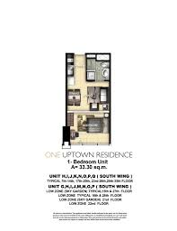 30 Sq M by One Uptown Residence Condos For Sale Megaworld Fort