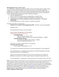 effective cover letter format amazing nih cover letter sample 33 on effective cover letters