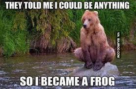 Funny Frog Meme - funny bear became frog meme bajiroo com