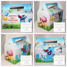 learn colors with oggy monster theme oggy and the cockroach personalized party boxes