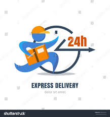 flat illustration running man postal box stock vector 335637614