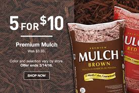 home depot versus lowes black friday 2017 lowe u0027s 5 for 10 premium mulch or garden soil u2013 hip2save