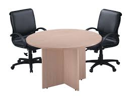 Oak Meeting Table Small Conference Tables Woodgrain Laminate Material Light