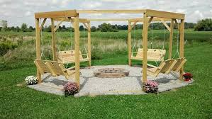 Firepit Swing Diy Porch Swing Pit Wooden Porch Swing Pit Gazebo