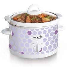 crock pot manual slow cooker polka dot pattern at crock pot com