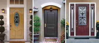 Exterior Home Doors Fiberglass Steel Entry Doors Pella With Regard To Home Front Idea