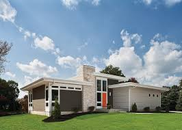 top modern bungalow design planting grass flat roof and modern