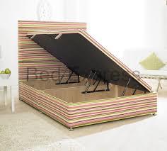 Storage Bed Ottoman by Luxury Ottoman Divan Storage Bed Single Double King Size Black