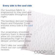 coop home goods premium adjustable loft shredded memory foam