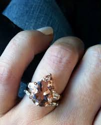 morganite pear engagement ring real engagement rings morganite weddingbee