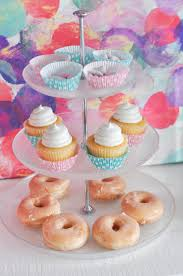 an easy baby shower setup plus a chex party mix baby shower