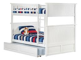 Amazoncom Nantucket Bunk Bed With Raised Panel Trundle Bed Full - Full over full bunk bed with trundle