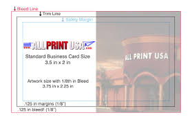Business Card With Bleed All Print Usa Printing Riverside Ca