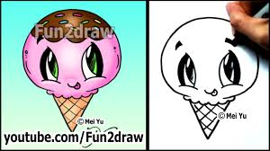 ice cream yummy dessert how to draw easy tutorial youtube