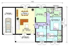 plan de maison plain pied 3 chambres avec garage plan de maison plain pied avec suite parentale mezzanine terrasse