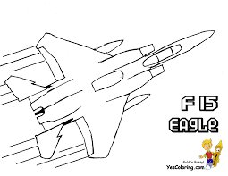 flying fighter airplane side view coloring page coloring page
