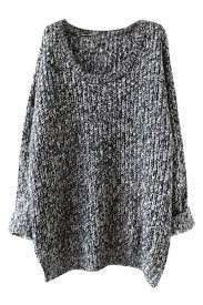 knit oversized sweater s oversized scoop neck fit chunky knit sweater roawe com