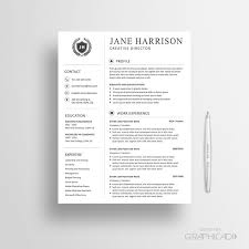 Reference Page Resume Template 27 Best Etsy Resume Templates Etsy Cv Templates Images On