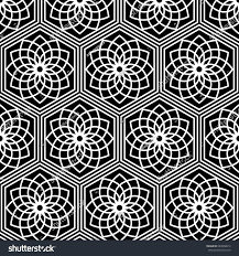 seamless pattern japanese traditional lattice ornament stock