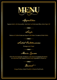 5 course menu template 5 course meal menu template 5 best and various templates ideas