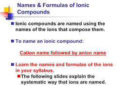 names u0026 formulas of ionic compounds ionic compounds are named