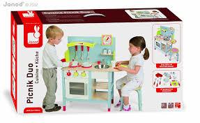 cuisine enfant bois janod janod 4506538 cuisine jouet picnik duo tabouret