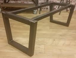 steel and wood table vintage industrial furniture restored metal and wooden tables
