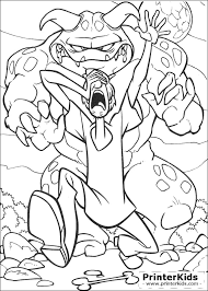10 images scooby doo monster coloring pages printable scooby