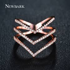 v shaped ring aliexpress buy newbark brand big women rings micro cz three
