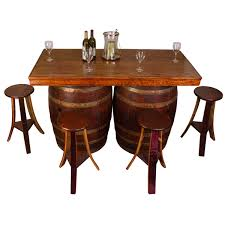 Dining Room Table With Wine Rack Wine Barrel Bar And Island Set With Wine Rack And Storage