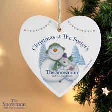 the snowman and snowdog heart decoration wedding paraphernalia