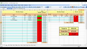 Monthly Budget Planner Spreadsheet Monthly Budget Planner How To Use Youtube