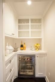 where to put glasses in kitchen without cabinets small chic butler s pantry features cabinets sans butlers