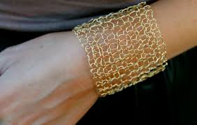 simple jewelry bracelet images Simple wide gold cuff bracelet sexy metallic wire mesh gold wire jpg