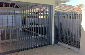 driveway gates perth feature fencing aluminium flat bar sectional carport door 181